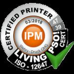 PSO ISO-Standard ISO-12647 Zertifikat